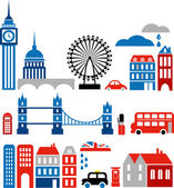 Vector illustration of London landmarks — Vecteur