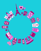 The world of Paris - vector illustration — Stock Vector