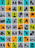énorme collection de logos abstraites — Vecteur
