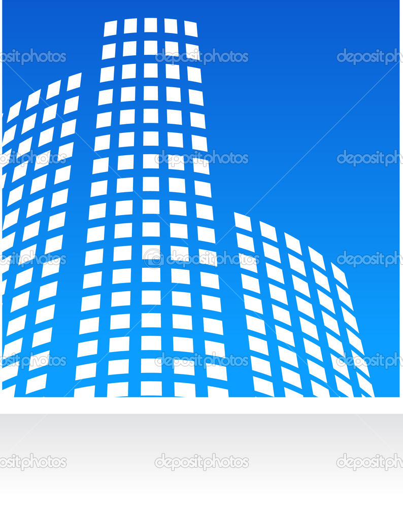 Vector  real estate  pattern with blue background  — Stock Vector #2005347