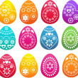 Patterned colored Easter eggs — Stock Vector #2243277