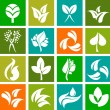 Collection of nature icons and logos - 6 — Stock Vector
