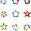 Royalty-Free Stock Vector Image: Abstract icon and logo set  - 3