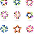 Abstract icon and logo set - 4 — Stock Vector