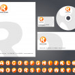Letterhead design with logo - 4 — ストックベクタ