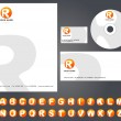 Letterhead design with logo - 4 — Stockvektor