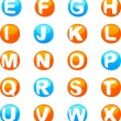Cute colored 3d alphabet - Stock Vector