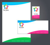 Letterhead design with logo - 5 — Stockvektor