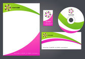 Letterhead design with logo - 1 — Stockvektor