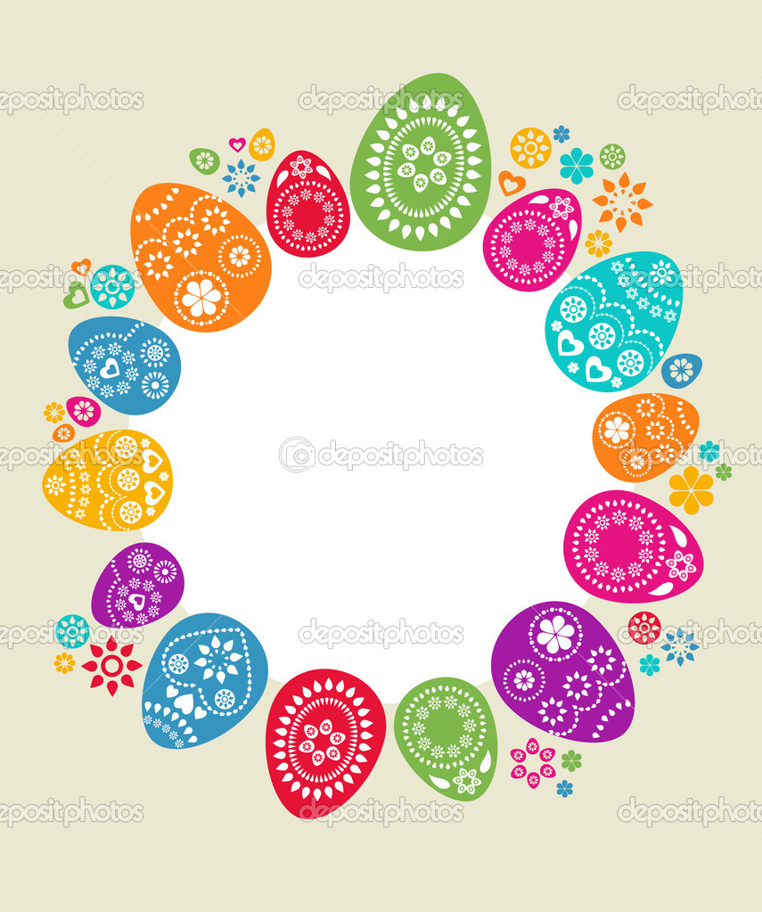 Cute background with colored Easter eggs — Stock Vector #2243282