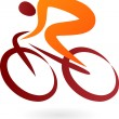 Royalty-Free Stock Vector Image: Cyclist Icon - vector illustration