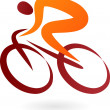 Cyclist Icon - vector illustration — Vector de stock