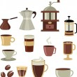 Coffee icons set - 3 — Stock Vector