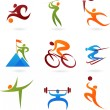 Sports icon collection -4 — Stock Vector