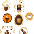 Coffee icons set - 4 — Stock Vector