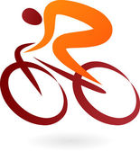 Cyclist Icon - vector illustration — Stock Vector