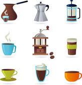 Coffee icons set - 1 — Stock Vector