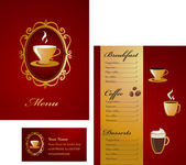 Coffee menu template - 3 — Stock Vector