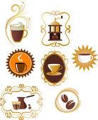 Coffee icons set - 4 — Stock Vector