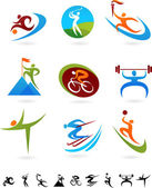 Sports icon collection - 1 — Stock Vector
