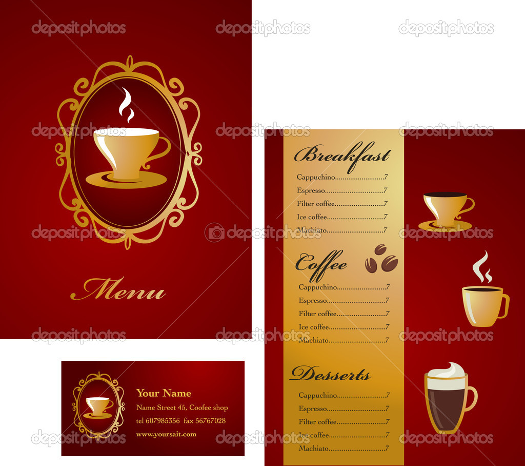 Modern coffee menu template — Stock Vector #2617964