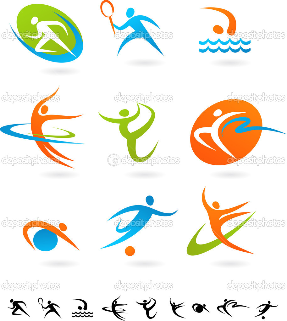 Set of colorful sport icons — Stock Vector #2617971