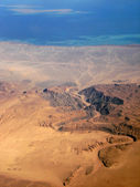 View from the plane to the desert — Stock Photo