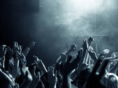 Crowd at a concert — Stock Photo