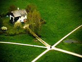 Crossroads as seen from the Hoher Salzburg fortress, Austria — Stock Photo
