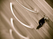 Locked with a key — Stock Photo