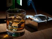 Drinking whisky — Stock Photo