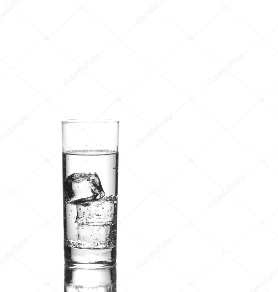 Glass of iced sparkling water  — ストック写真 #2243623