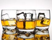 Whskey の 3 つのグラス — ストック写真