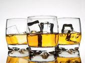 Whisky-reflexion — Stockfoto