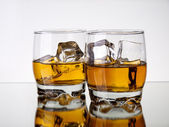 Whiskey reflections — Stock Photo