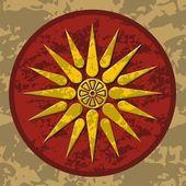 Macedonia symbol color — Stock Vector