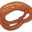 Stock Vector: Pretzel