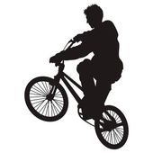 Bicycle rider 5 — Stock Vector