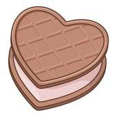 Heart biscuit — Stock Vector