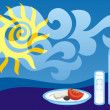 Greek summer — Stock Vector