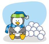 Little penguin 3 — Stock Vector
