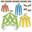 Stock Vector: Circus tents