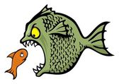 Bully fish — Stock Vector