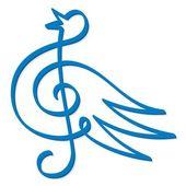 Muzyka niebieski ptak — Wektor stockowy