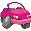 Pink cartoon car — Stock Vector #2311033