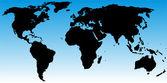 World map gradient — Stock Vector