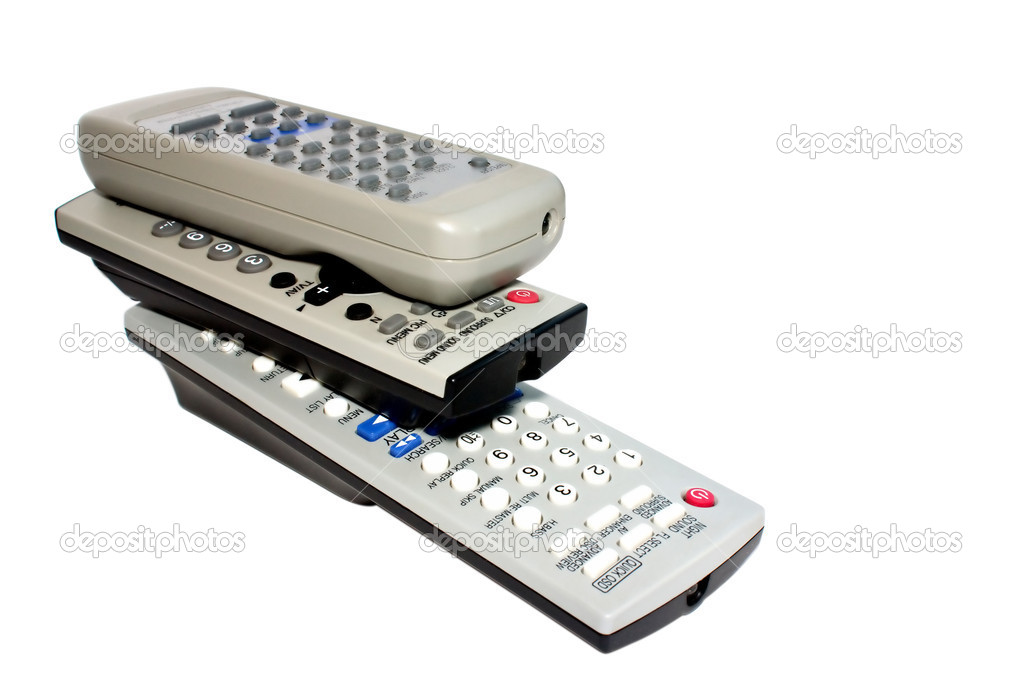Isolated tv dvd remote control — Stock Photo #1622267