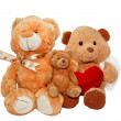 Toy soft bears with heart — Stock Photo