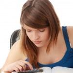 Teen girl learning — Stock Photo