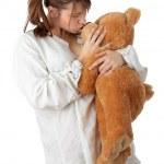 Teen mit Teddybär — Stockfoto
